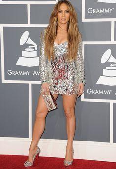 Jennifer Lopez in Emilio Pucci at 2011 Grammys