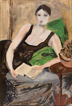 Walt Kuhn (American, 1877-1949), ca. 1925, Study for Mrs. C , Oil on Paperboard.