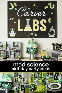 Mad Science Birthday Party Ideas!