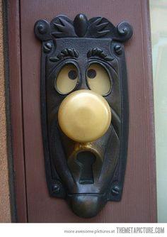 Alice In Wonderland and the door nob that won't let her through