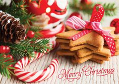 Christmas Cookies - Holiday Greeting Cards-The Office Gal Candy Canes and Cookies...there is no better way to say Merry Christmas to all this holiday season.