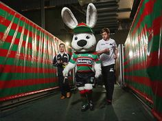 Reggie Rabbit - South Sydney Rabbitohs, my favourite team Rabbits In Australia, Sports Advertising, Fan Picture, Rugby League, Reggio, Football Team, League Of Legends, Sydney, Mickey Mouse