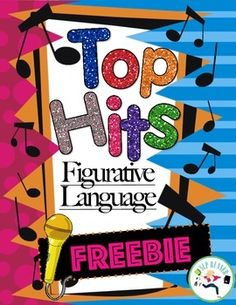 Top Hits Figurative Language FREEBIE!Top hits uses todays popular music to explore figurative language. Find similes, metaphors, idioms, and more in this fun multi-model learning product!  Bring life to your room and have your students tapping their feet and singing aloud to their favorite songs while learning. *****************************************************************************If you like this freebie, you'll love these upper grade products which include data pages!Tie Die ...