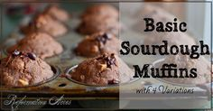 Chocolate Chocolate Chip Sourdough Muffins... need I say more?! One of four…