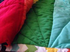 Full spectrum chevron baby quilt gender neutral