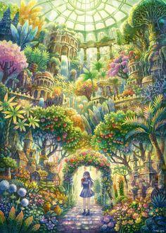 「植物楽園」/「けみ猫」[pixiv]