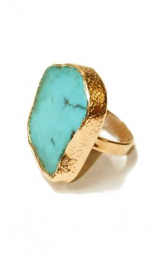 turquoise + gold.