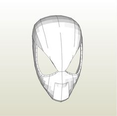 Papercraft .pdo file template for Spiderman - Faceshell +FOAM+.