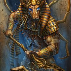 Anubis by Andy Timm on ArtStation.