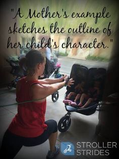 Mommy fitness with Stroller Strides... Lead by example!
