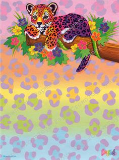 Vintage Lisa Frank Hunter the Leopard Stationery by PaperCrownToys, $3.00