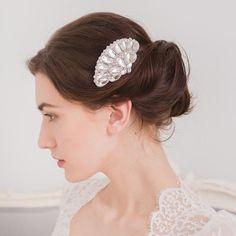 1920s wedding hair comb