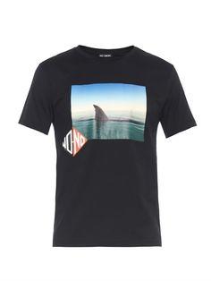 Raf Simons Slim-fit shark-print T-shirt