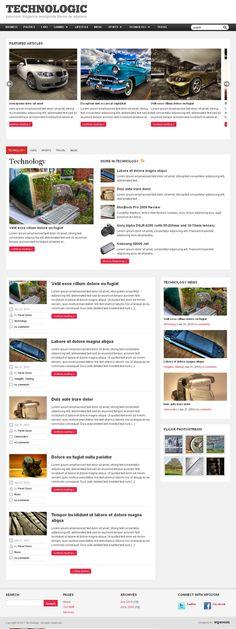 Technology Magazines WordPress Theme Technotogic