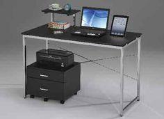 Ellis BLACK Metal File Cabinet w/2 Drawers