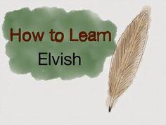 learn Sindarin Elvish (from LOTR)