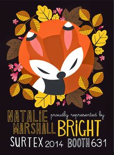 Natalie Marshall flyer via print & pattern