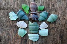 Sea glass bottles rims Vintage sea glass Beach jewelry supplies Art & craft supply Curved sea glass set Black Sea Real Sea Glass home decor
