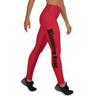 Yoga Leggings · Blooming Rose · Online Store Powered by Storenvy Rose Online, Blooming Rose, Spandex Material, Yoga Leggings, Slay, Hand Sewing, Store, Fabric, Fashion