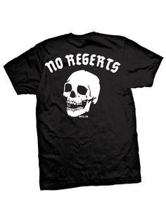 "Men's ""No Regerts"" Tee by Cartel Ink (Black) | Inked Shop"