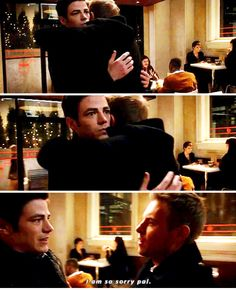 The Flash 1x16 - Eddie: Oh my gosh I punched a guy with lightning psychosis! I should hug him now.      Barry: Whaaat is going on.....