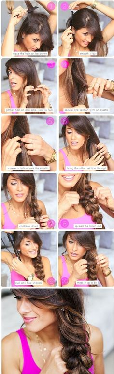 Quick Hairstyle Tutorials For Office Women : Long, beautiful, gleaming, steaming, flaxen, waxen... I adore hair!