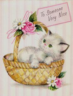 Mother's Day kitten in basket