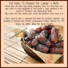 Prepare for birth with dates Pregnancy Labor, Pregnancy Nutrition, Pregnancy Health, Pregnancy Workout, Hippie Pregnancy, Dates During Pregnancy, Child Nutrition, Prepare For Labor, Labor Preparation