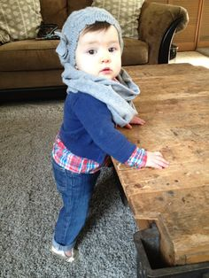 her baby girl is just TOO CUTE and she has great baby stylin' inspiration. baby layers #babystyle