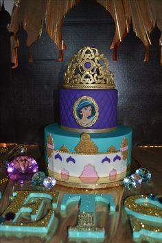 Jasmine Birthday Cake, Aladdin Birthday Party, Aladdin Party, Birthday Diy, Princess Birthday, 2nd Birthday Parties, Princess Jasmine Cake, Princess Cakes, Disney Jasmine