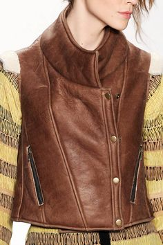 A rich leather vest spotted at Rebecca Minkoff, fall 2012