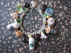 Starbucks Coffee Charm Bracelet. $57.99, via Etsy.