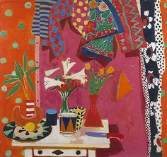 alberto morrocco - Google Search Figure Painting, Painting & Drawing, Matisse Paintings, Oil Paintings, Jazz Colors, Painting Still Life, Bouquet, Henri Matisse, African Art
