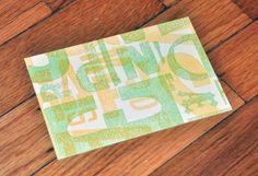 Alphabet Soup Postcards by the Living Letter Press.