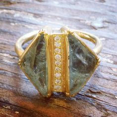 Brooke Gregson Aquamarine gold ring.