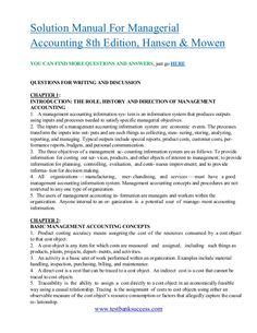 Intermediate accounting ifrs edition 1st edition volume 1 kieso testbanksuccess solution manual for managerial accounting 8th edition hansen mowen fandeluxe Image collections