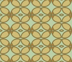 century_butterfly_orange_ and aqua fabric by holli_zollinger on Spoonflower - custom fabric
