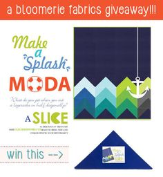 Bloomerie Fabrics giveaway, Moda Make A Splash Slice triangles- LOVE THIS QUILT DESIGN!!