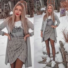 #outfit #outfits #outfitoftheday #greyoutfit #greyhair #ombre #casualstyle #casual #slovakgirl #slovak #moda #fashion #fashionoutfits #streetstyle #style #clothes #skirtoutfits #skirts #whiteboots Grey Outfit, White Boots, Grey Hair, Skirt Outfits, Outfit Of The Day, Bohemian, Classy, Street Style, Shirt Dress