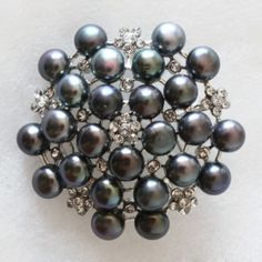 Wunderschöne Heronsbil Perle Hochzeit Braut-Pin / Brosche