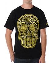 Obey Dia De Los Muertos Black Tee Shirt