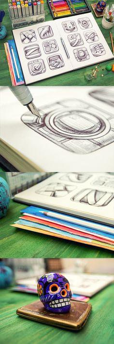 Visualisation: Beautiful Sketchbook by Mike  http://www.behance.net/gallery/14994393/Sketchbook