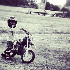 Liam this summer on the peewee 90 I bought him... Start em' young