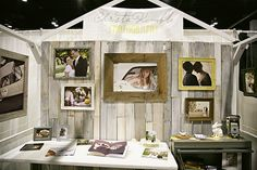 more wedding show booth - what about the fabric banner
