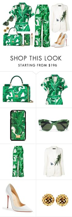 """""""Dolce & Gabanna"""" by princess976 ❤ liked on Polyvore featuring Dolce&Gabbana, Christian Louboutin, Tiffany & Co., dolceandgabbana, christianlouboutin, tropicalprints and tiffanyandco"""