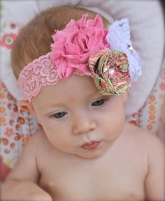Made to match vintage pink headband for by verosjoy on Etsy, $16.00