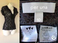 2010's PER UNA M&S Lacey Sheer Crocheted Flower Patterned Cap Sleeved Top Ladies 10 38