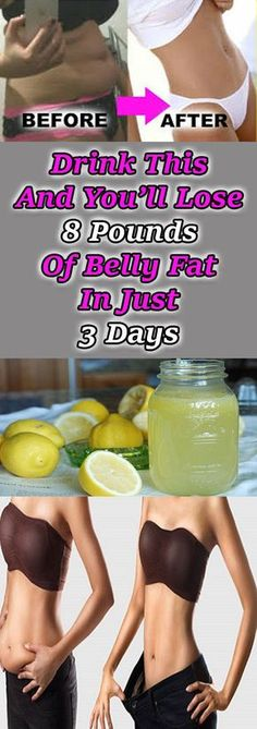 Lose 8 Pounds of Belly Fat in 3 Days with This Drink