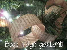 Old book tree garland - theme idea for literary Christmas party (there are also instructions out there for trees and angels made from old books) Harry Potter Christmas Tree, Old Christmas, A Christmas Story, Christmas Carol, All Things Christmas, Christmas Holidays, Christmas Decorations, Rustic Christmas, Christmas Tree Made Of Books