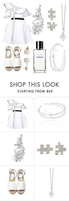"""""""If you're going through hell, keep going."""" by aa-leia on Polyvore featuring self-portrait, Linni Lavrova, Akillis, Dinny Hall, white, blackandwhite and gucci"""